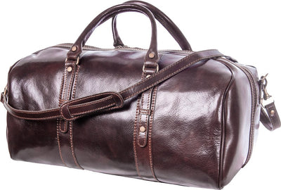 Luciano Fabrini Medium Leather Barrel Bag