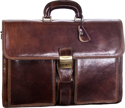 Luciano Fabrini Triple Section Briefcase 449
