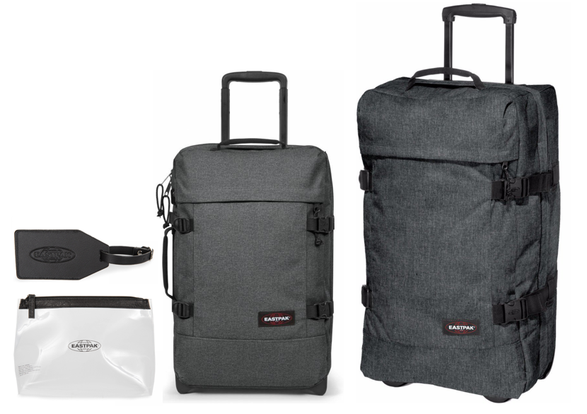 Eastpak Tranverz Cabin and Medium Suitcase Set + Free Gift