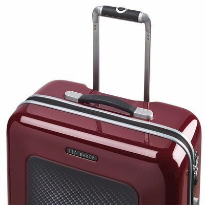 Ted Baker Burgundy Graphite 69.5cm Medium Suitcase