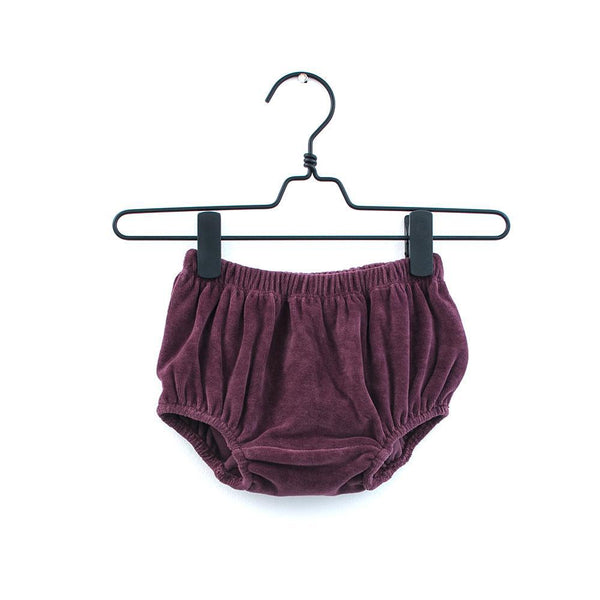 Velour Midnight / Burgundy Bloomers-Bottoms-Piupia-Blue-3-6 months-House Of Mint
