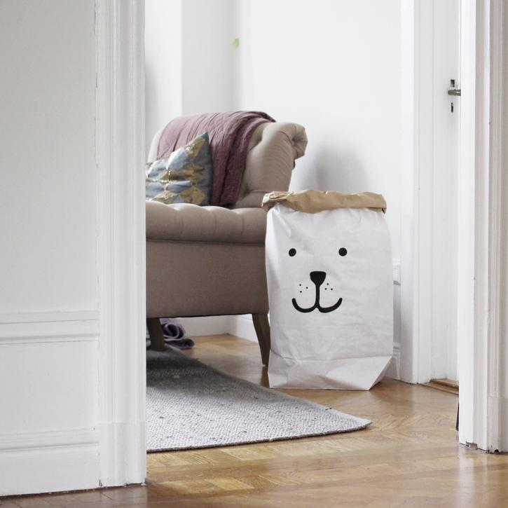 Bear Paper Bag-Storage-Nursery-Tellkiddo-House Of Mint
