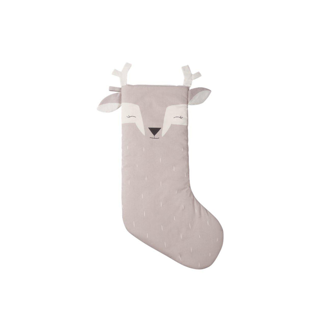 Christmas Animal Pink Stocking Deer
