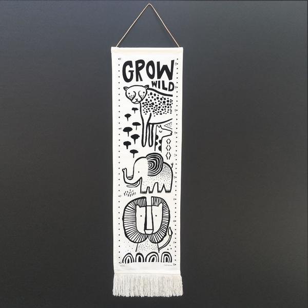 Growth Chart Safari-Accessories-Wee Gallery-House Of Mint