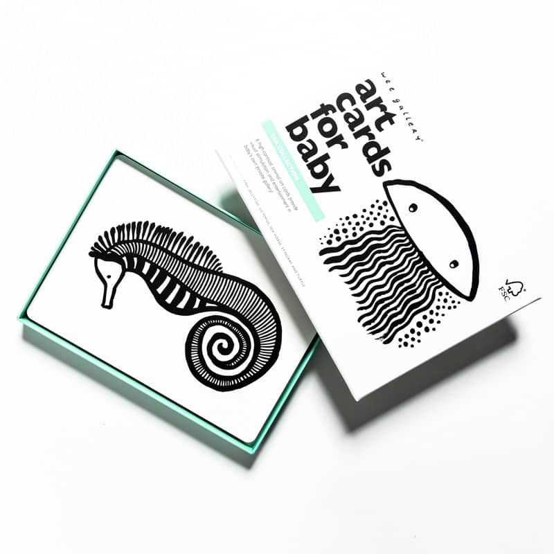 Baby Art Cards- Sea Sensory Wee Gallery House of Mint
