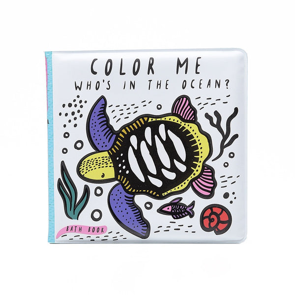 Color me: Who's in the Ocean Bath Book Wee Gallery House of Mint