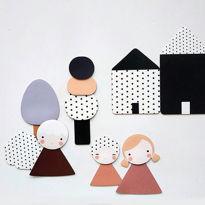La Fabrika People House of Mint Magnets Kids Play