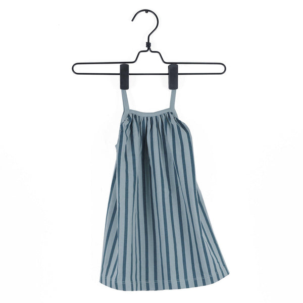 Blue Stripes Dress-Dresses/Skirts-Piupia-3-6 months-House Of Mint