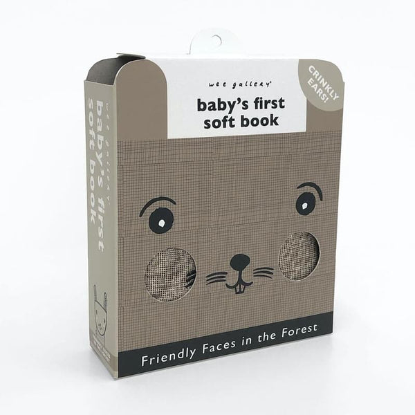 Friendly Faces in the Forest - Baby's First Soft Book Wee Gallery House of Mint