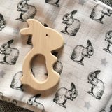 Wooden Rabbit Teether-Teethers-Briki Vroom Vroom-House Of Mint