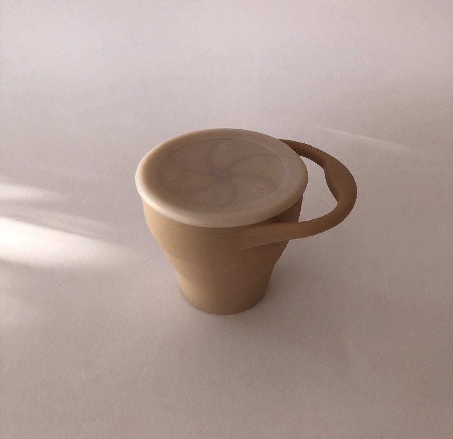 Foldable Snack Cup -Desert Taupe-Baby-Toddler-House of Mint
