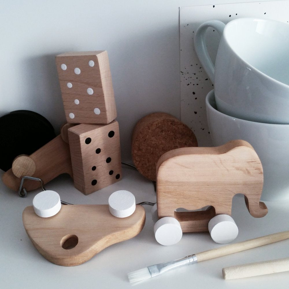 Elephants and Cats Set-Wooden Toys-Pinch Toys- House Of Mint