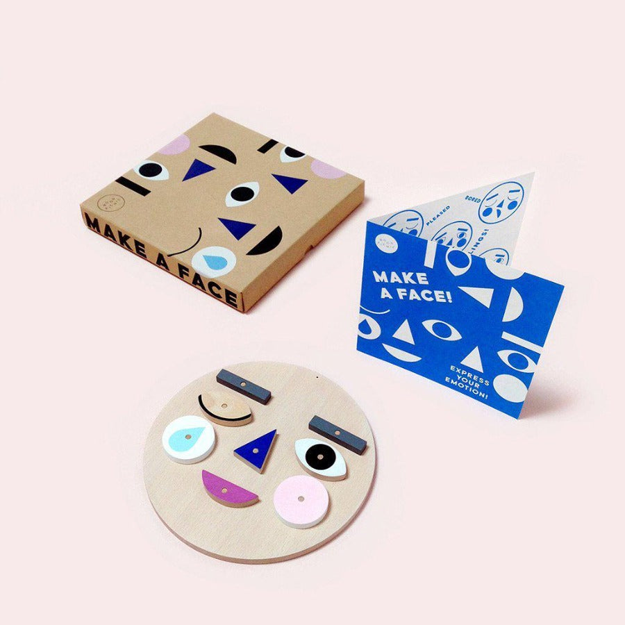 Make a Face Wooden Toy Educational Moon Picnic House of Mint