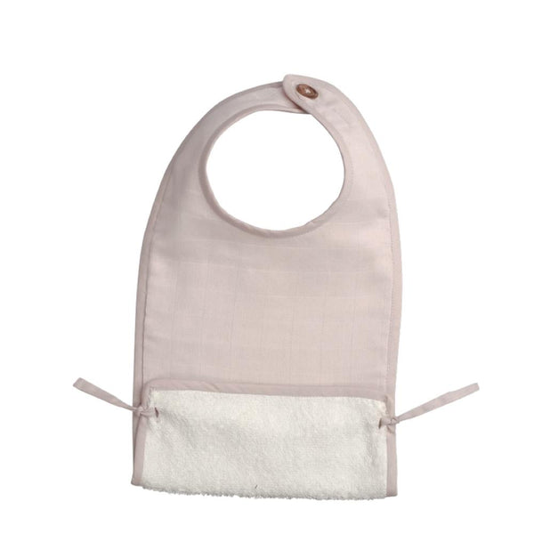 Muslin Feeding Bib Pink-Eat-Baby-Fabelab-House Of Mint