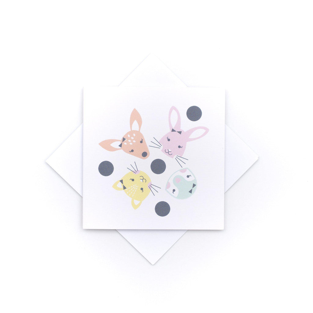 House Of Mint-Stationary-Two Little Ducklings-Card Baby Girl- Animals