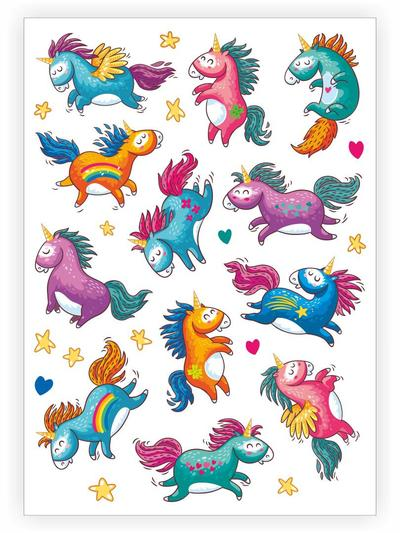 Rainbows & Unicorns-Tattoos-Ducky Street-House Of Mint