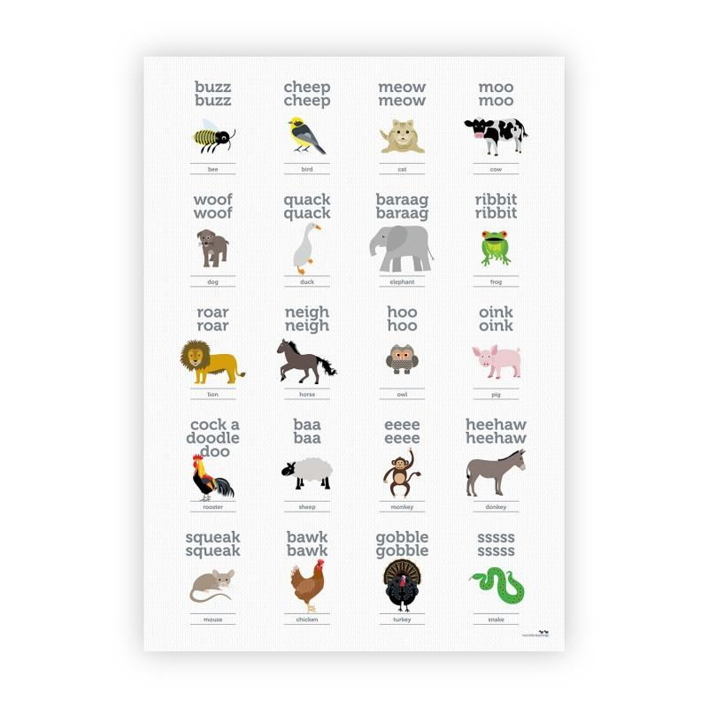 Animal Sounds Poster