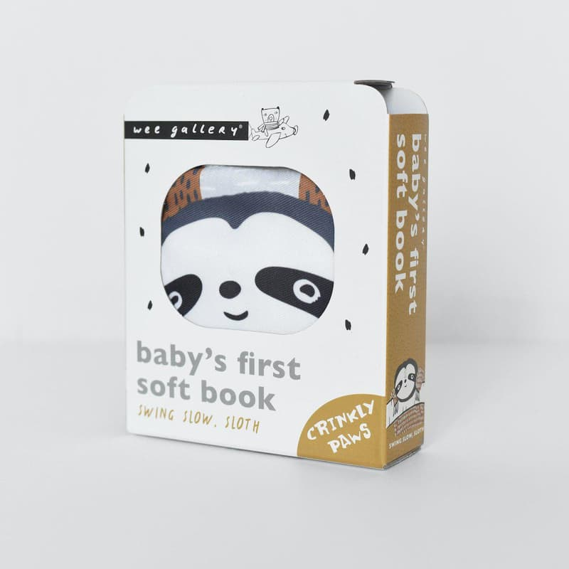 Swing Slow Sloth Baby Soft Book Wee Gallery House of Mint