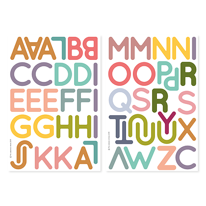 Fabrikamots Magnets Alphabet Learning House of Mint
