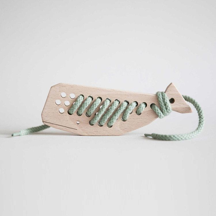 Wooden Lacing Whale-Toys-Aleta-House Of Mint