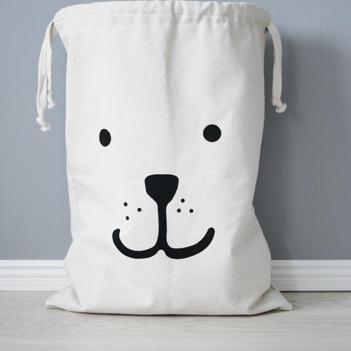 Bear Fabric Storage Bag-Accessories-Tellkiddo-House Of Mint