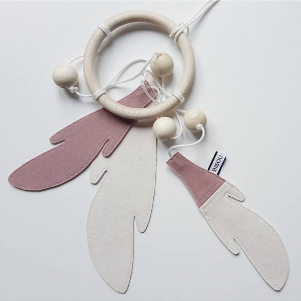 Dreamcatcher Blush/White-Accessories-Bisou De Lou-House Of Mint