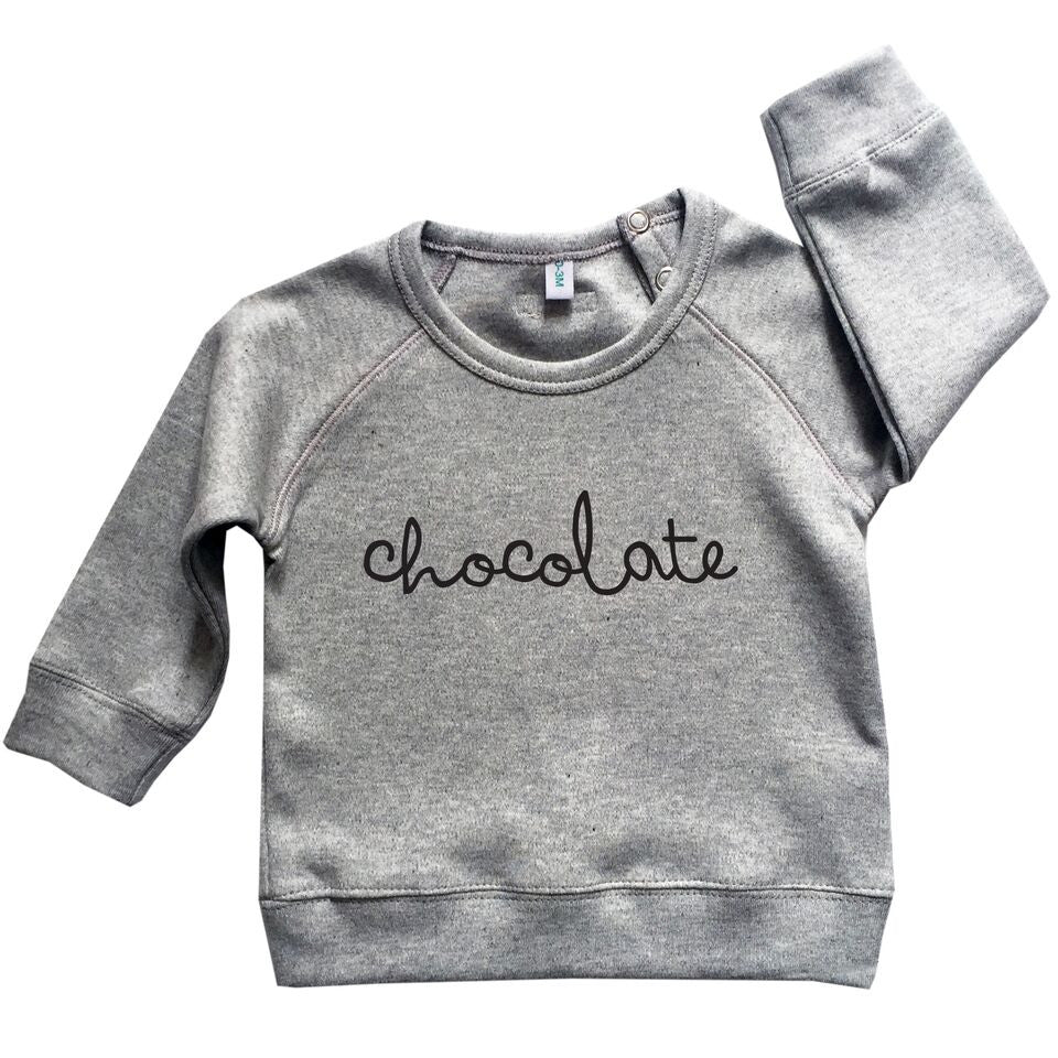 Grey Chocolate Sweatshirt-Tops-Organic Zoo-0-3 months-House Of Mint