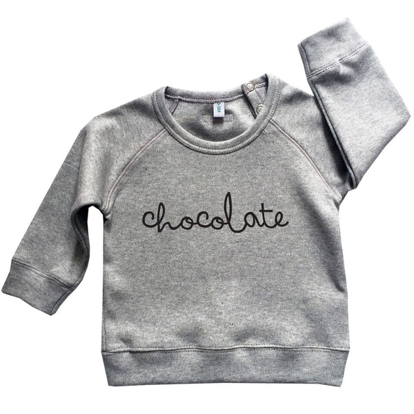 Grey Chocolate Sweatshirt-Tops-Organic Zoo-House Of Mint