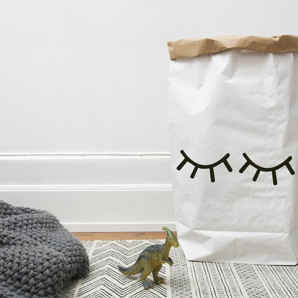 Closed Eye Paper Bag-Storage-Nursery-Tellkiddo-House Of Mint