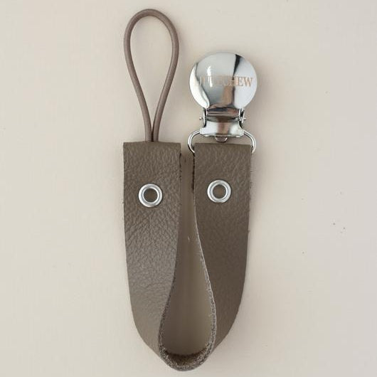 Leather Pacifier Holder - Dark Oak
