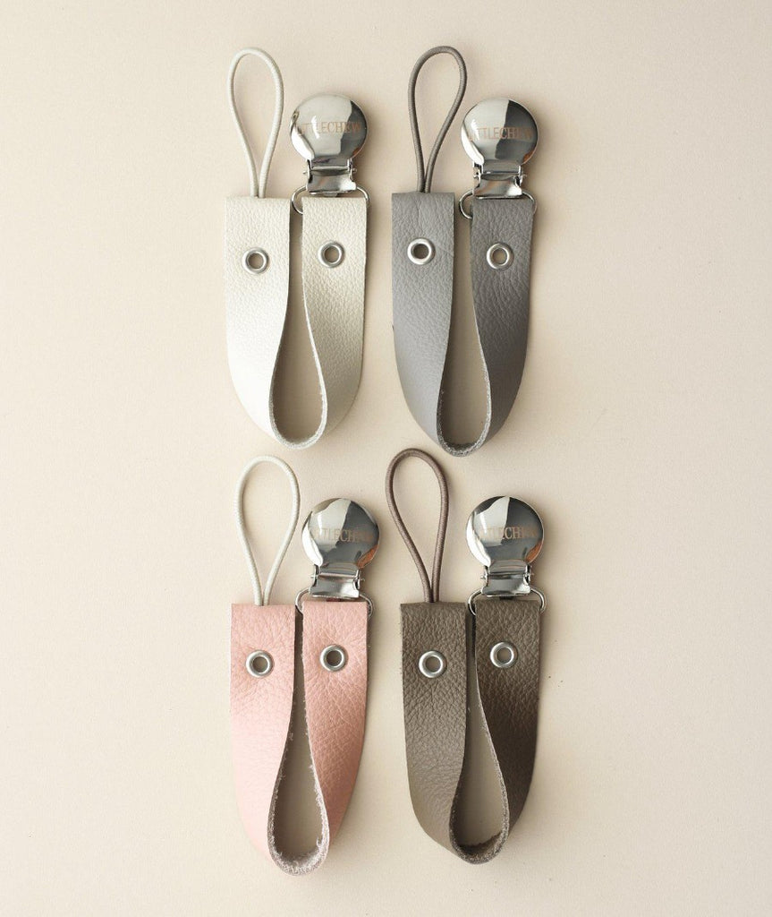Leather Baby Pacifier Holder- House of Mint