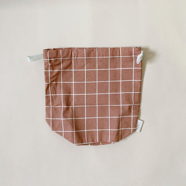 Multi Bag Small- Terracotta Grid