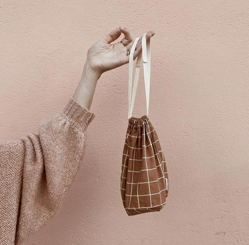 Multi Bag Small- Terracotta Grid – Storage Haps Nordic House of Mint