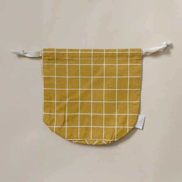 Multi Bag Small- Mustard Grid  – Storage Haps Nordic House of Mint