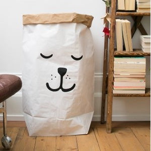 Sleeping Bear Paper Bag-Storage-Nursery-Tellkiddo-House Of Mint