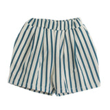 Green Stripes Shorts-Bottoms-Piupia-3-6 months-House Of Mint