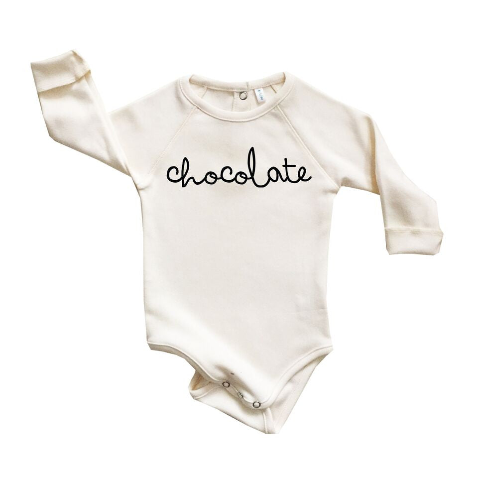 Cream Chocolate Bodysuit-Bodysuits-Organic Zoo-0-3 months-House Of Mint