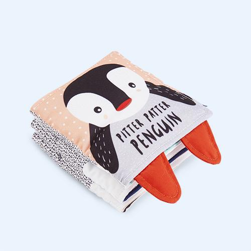'Pitter Patter Penguin' Baby Soft Book Wee Gallery House of Mint