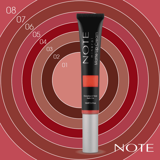 Mineral Matte Lip Cream - Note Beauty