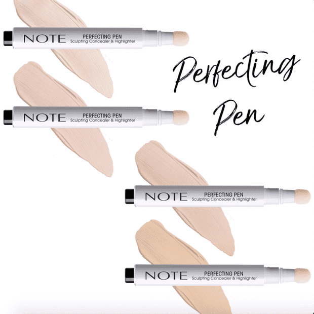 Perfecting Concealer & Highlighter Pen - Note Beauty