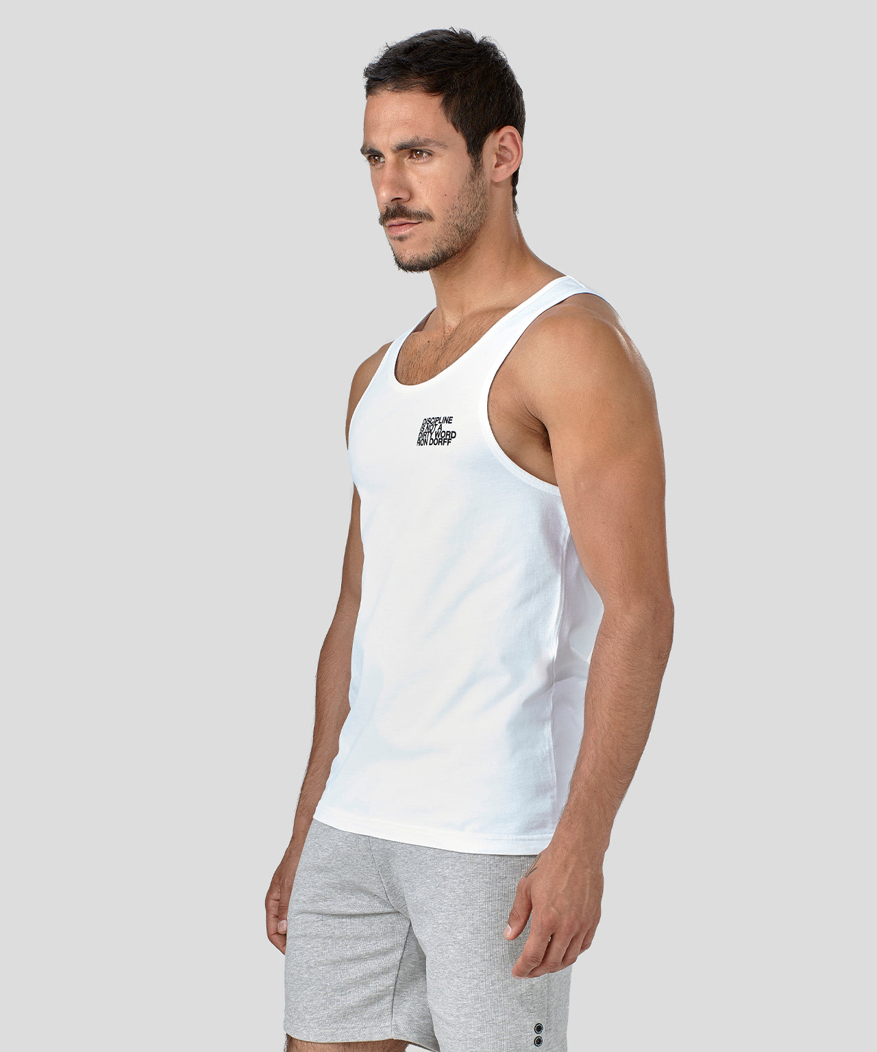Tank Top DISCIPLINE - white