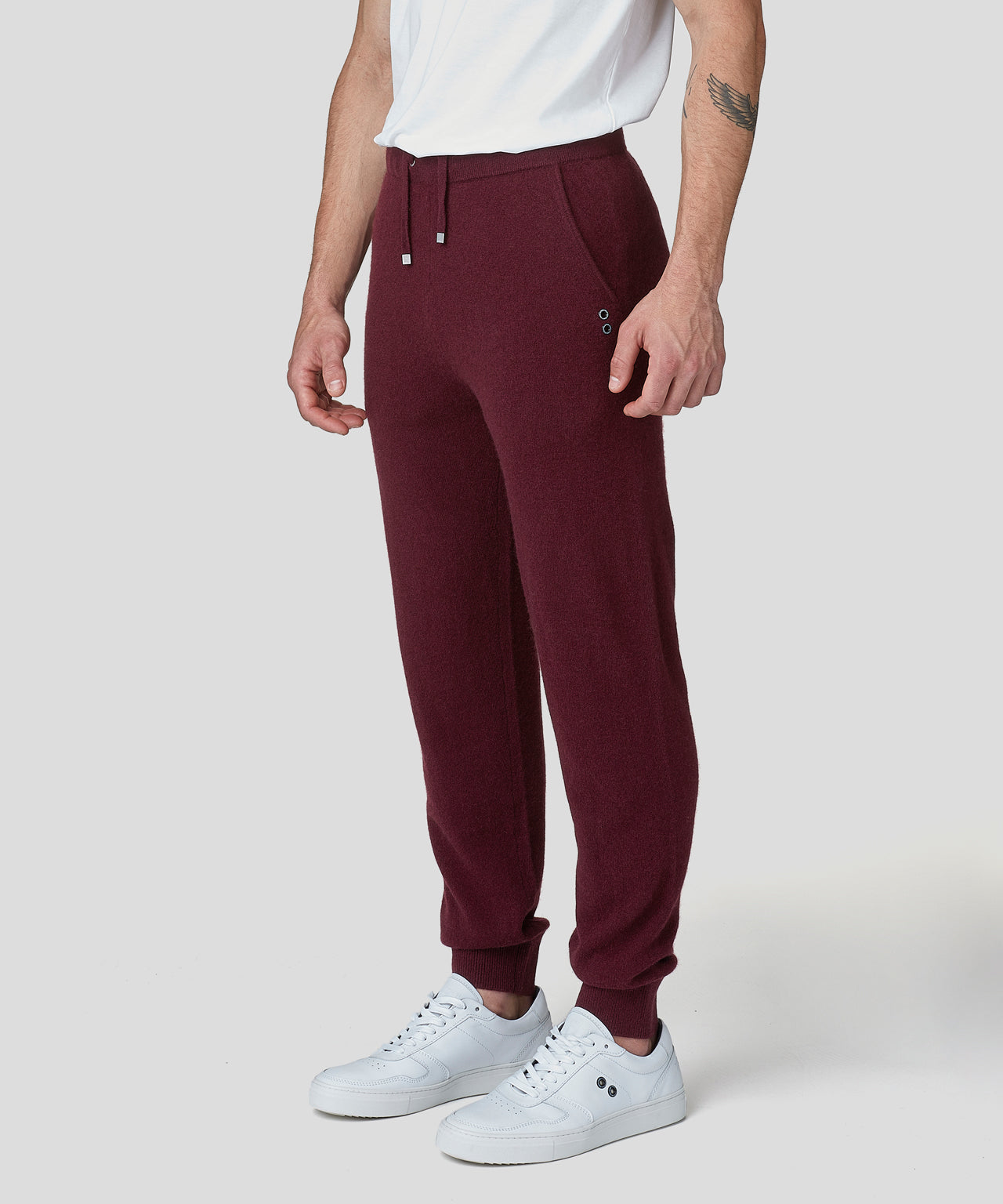 Cashmere Pants - burgundy red