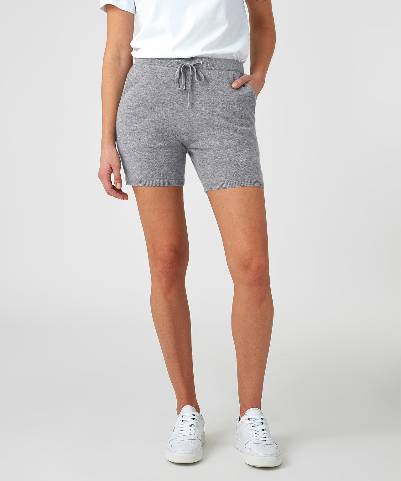 Cashmere Shorts His For Her - grey melange