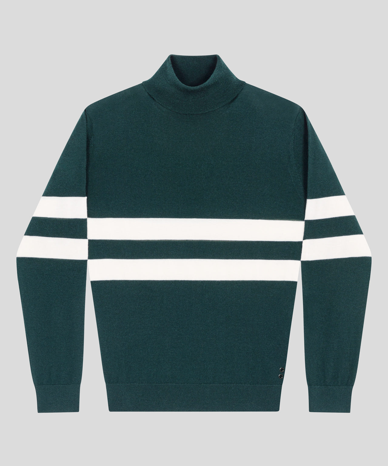 Merino Wool Roll Neck - green light