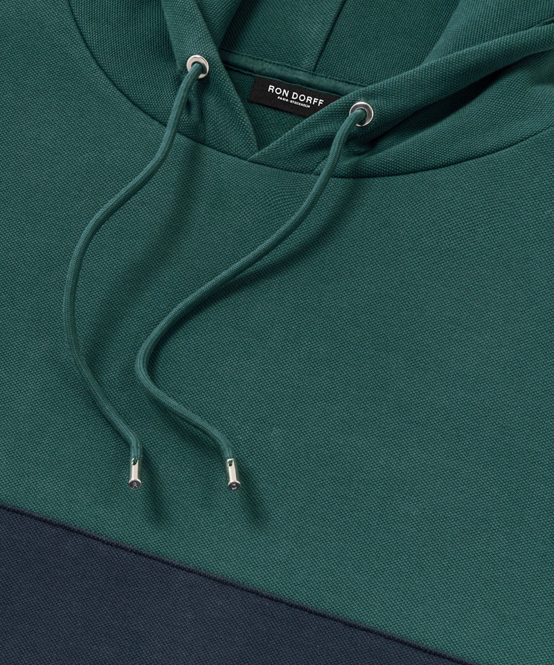Panelled Hoodie - green light