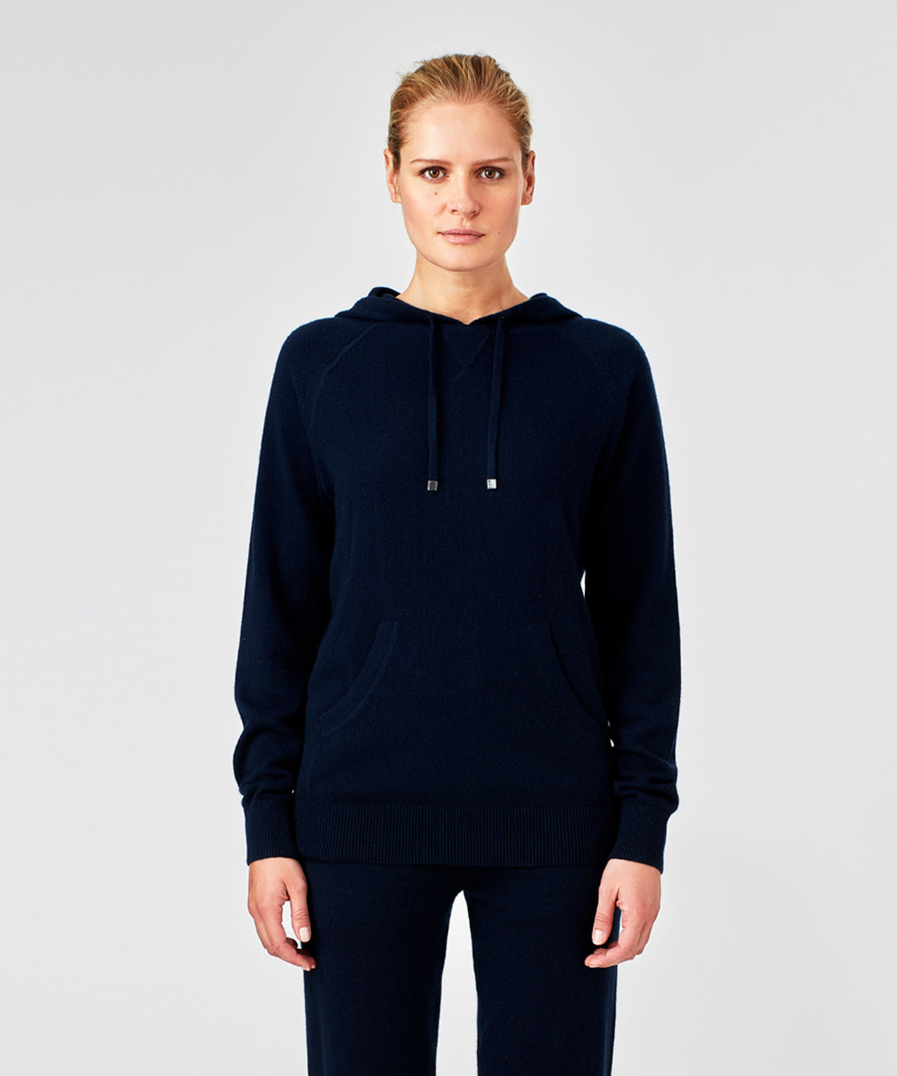 Cashmere Hoodie His For Her - navy