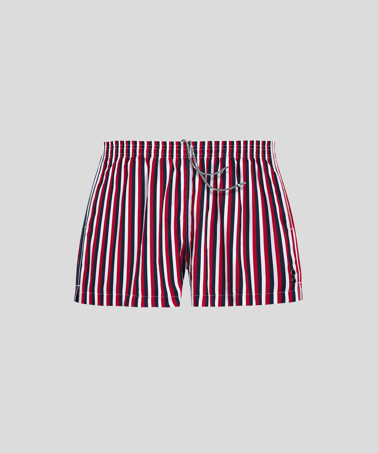 Swim Shorts Vertical Thin Stripes - white/navy/red