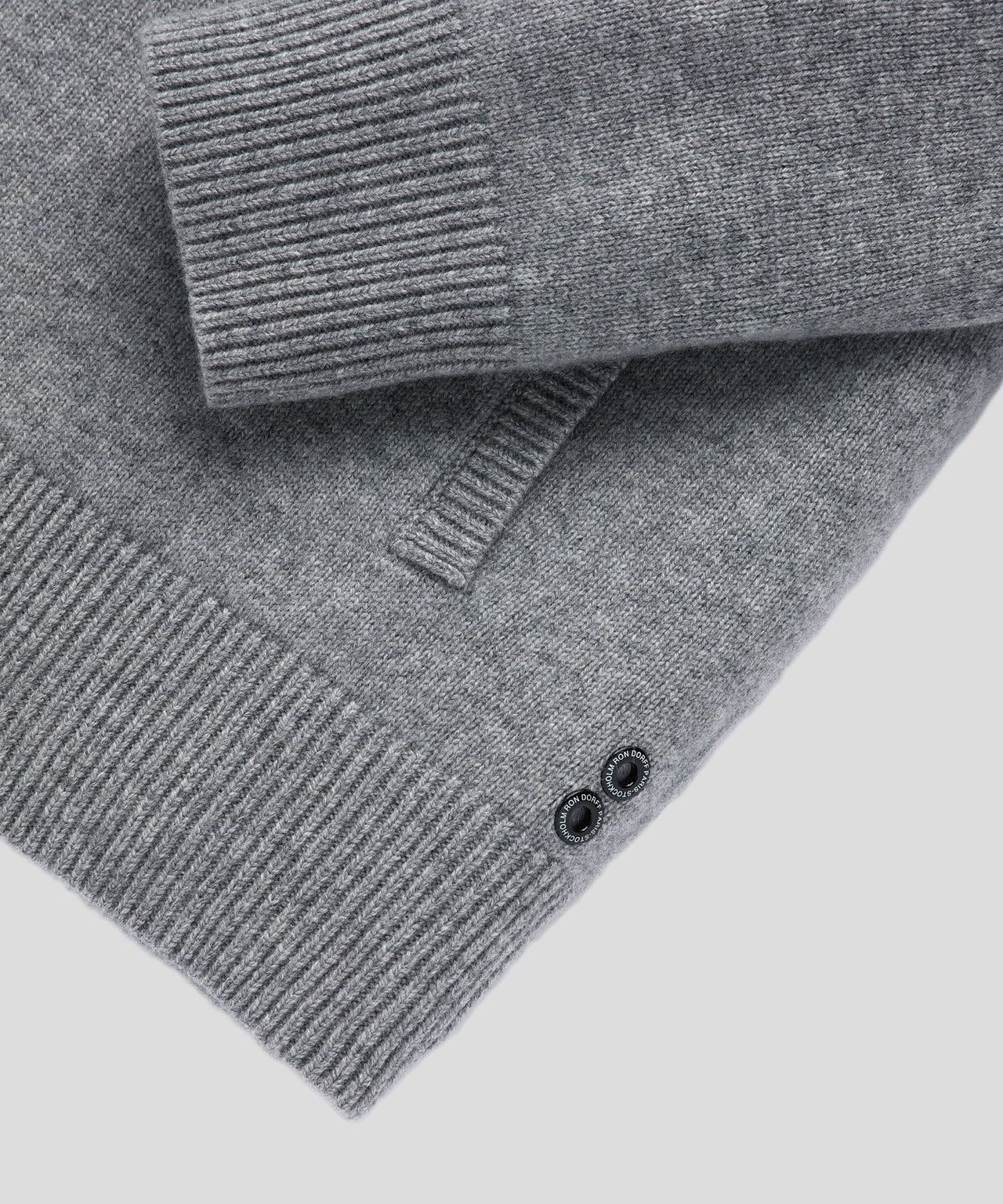 Cashmere Tennis Jacket - grey melange