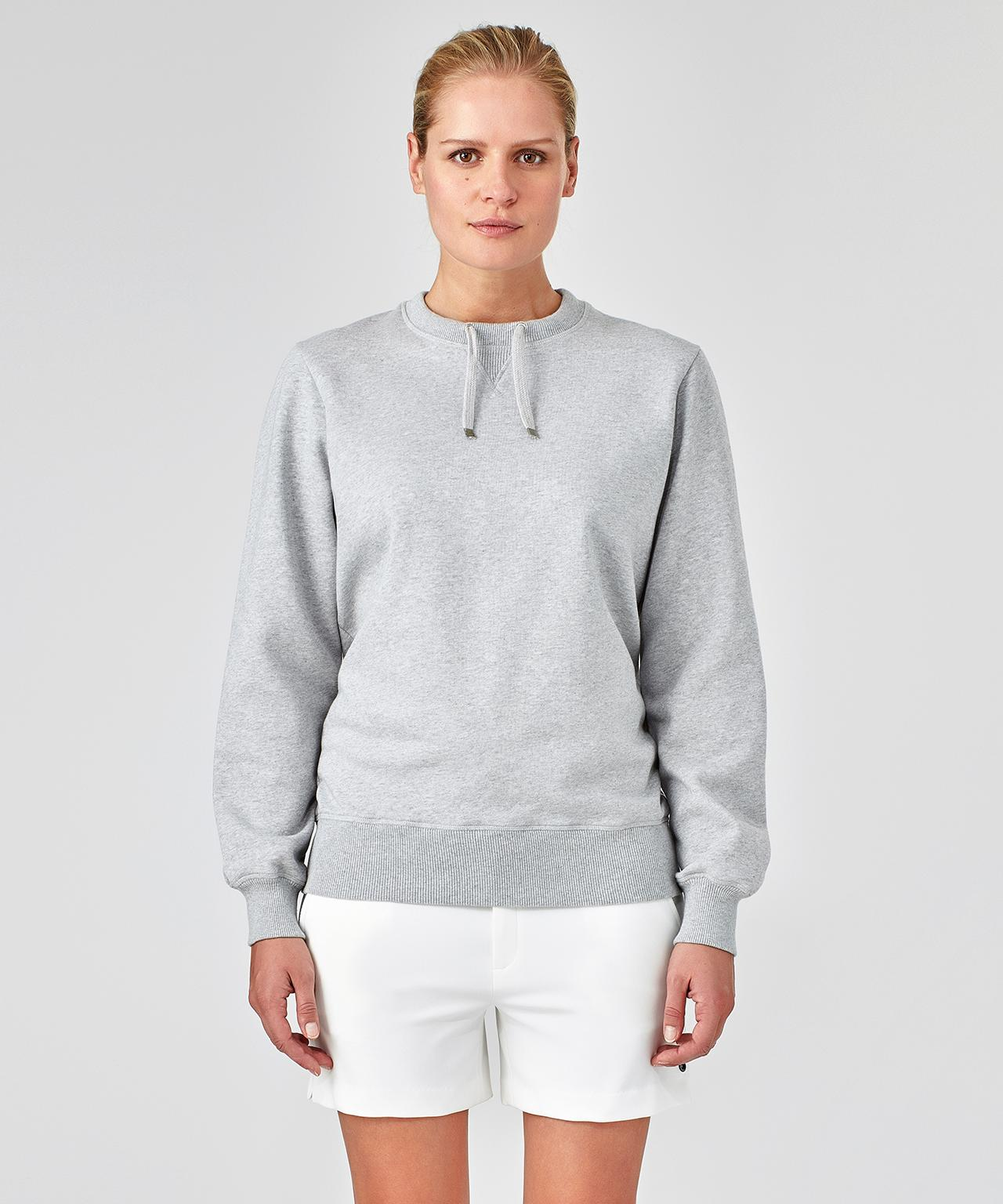 Sweatshirt Drawstring His For Her - grey melange