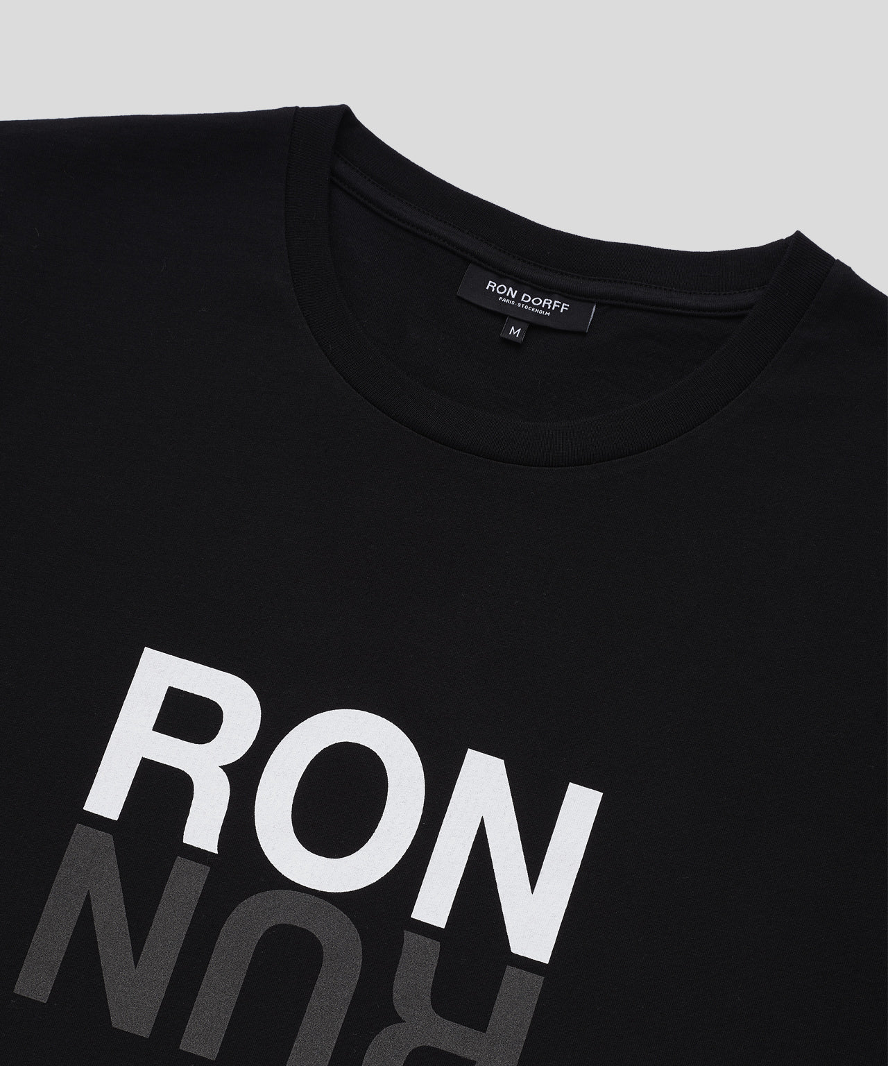 T-Shirt RON RUN His For Her - black